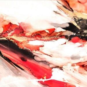 celia davies prink ink orange abstract II