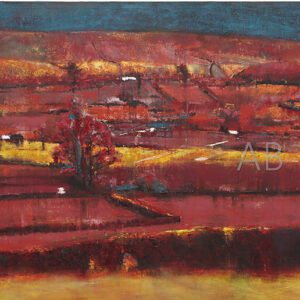 Red Landscape by Angela Baptie